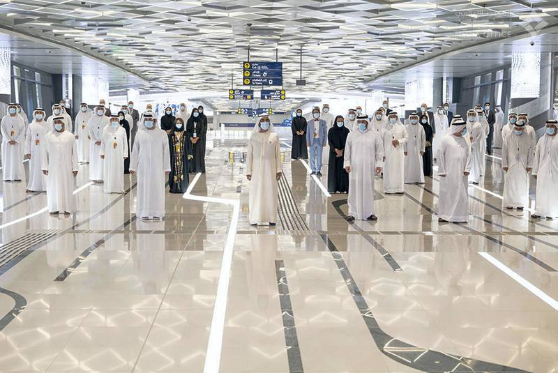 Mohammed bin Rashid launches the official operation of the 2020 metro route. With a length of 15 km, and a total of seven stations, at a cost of 11 billion dirhams, it will be opened to the public next September. Shaikh Mohammed bin Rashid twitter account