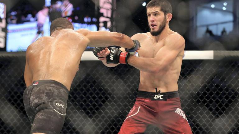 An image that illustrates this article UFC 267: Makhachev seeks new opponent after Dos Anjos ruled out injured