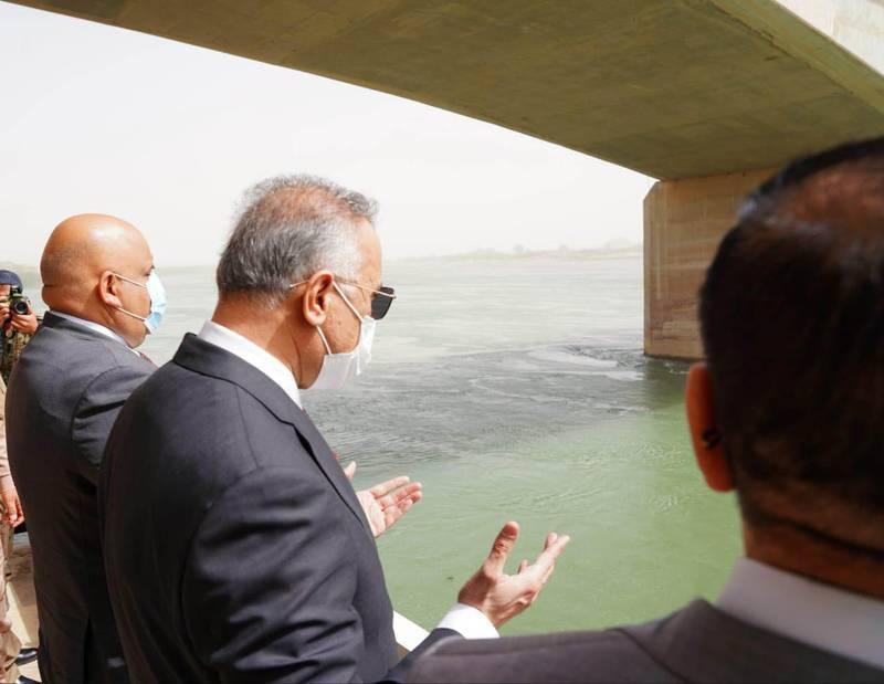 Iraqi Prime Minister Mustafa Al Kadhimi visits Tikrit and  the site of the camp Speicher massacre. Photo: Media Office of the Prime Minister, Iraq