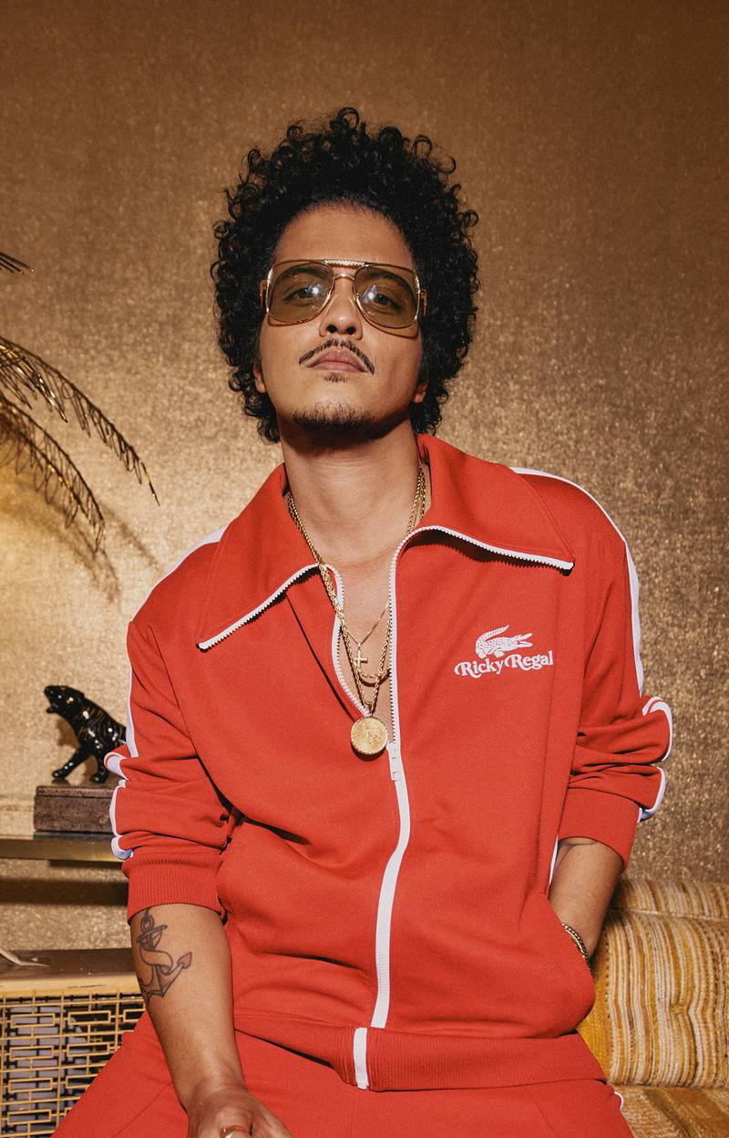 """Bruno Mars """"Ricky Regal"""" collection for Lacoste. Courtesy Lacoste"""