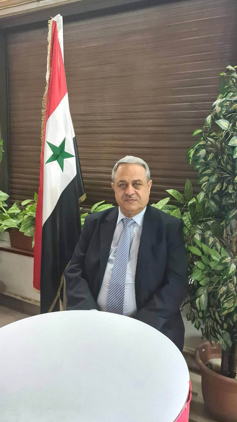 Presidential hopeful Mahmoud Merei in his office in Damascus