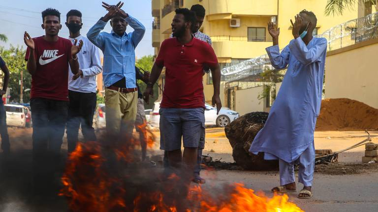 An image that illustrates this article What's happening in Sudan and who is Gen Abdel Fattah Al Burhan?