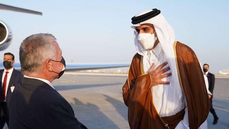 An image that illustrates this article Jordan's King Abdullah meets Sheikh Tamim on Qatar visit