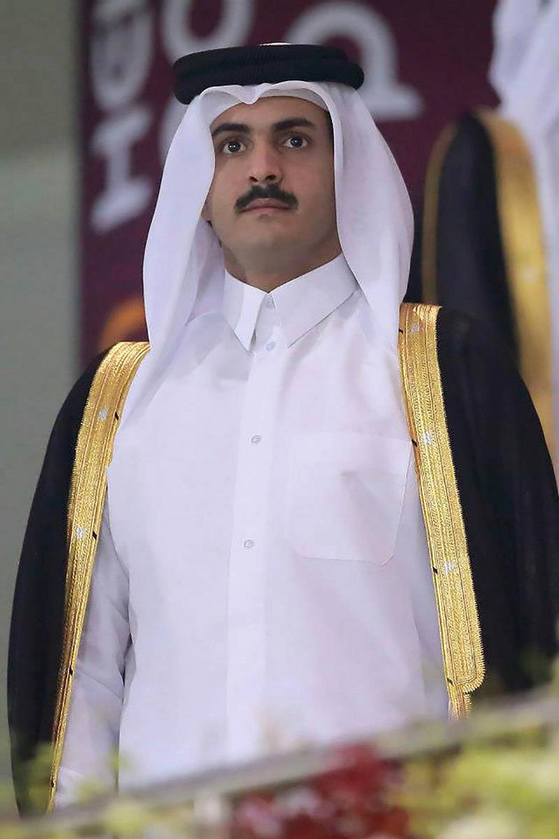Shiekh Khalid Bin Hamad Al Thani attending H.A Cup Final 2013. Source Official Facebook Fan Page for His Excellency Sheikh Khalid bin Hamad Al Thani