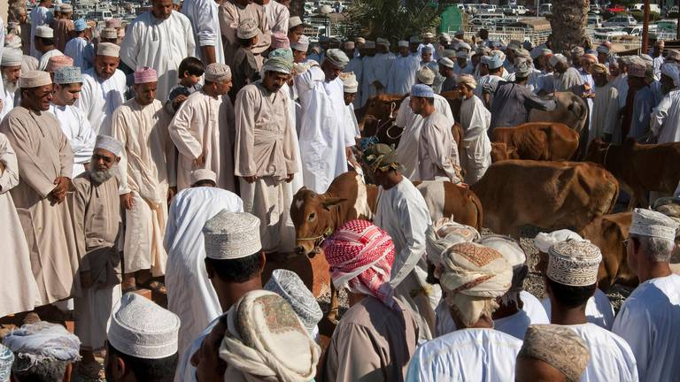 An image that illustrates this article Oman's traditional Eid markets move online during lockdown
