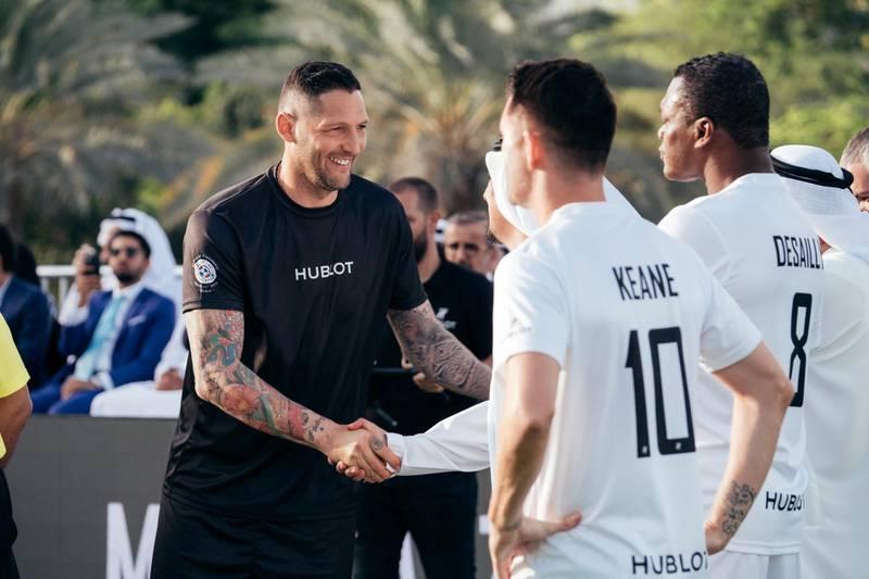 15.04.18  Match of Friendship - Pele XI vs. a Marcello Lippi XI. Player Materazzi greats Keane and Desally. Dubai Opera Garden, Dubai Opera, downtown Anna Nielsen For The National
