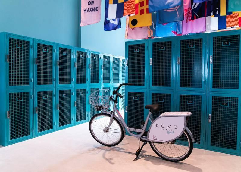 DUBAI, UNITED ARAB EMIRATES. 16 DECEMBER 2020. Rove La Mer locker . (Photo: Reem Mohammed/The National)Reporter:Section: