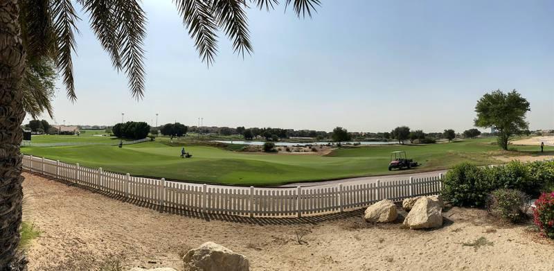 DUBAI UNITED ARAB EMIRATES. 17 NOVEMBER 2020.Community guide: Arabian Ranches . The golf course in Arabian Ranches. (Photo: Antonie Robertson/The National) Journalist: Sarwat Nasir. Section: National.
