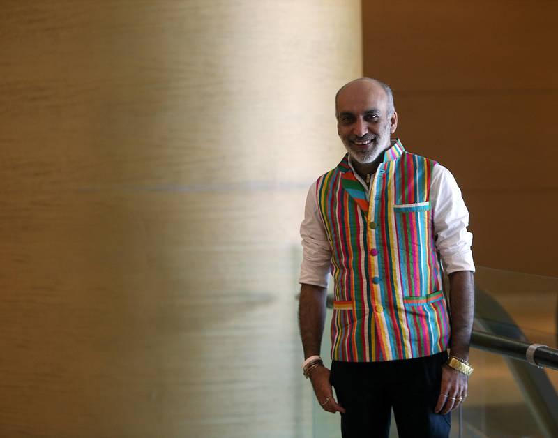 Indian fashion designer Manish Arora at The Address, Dubai Mall