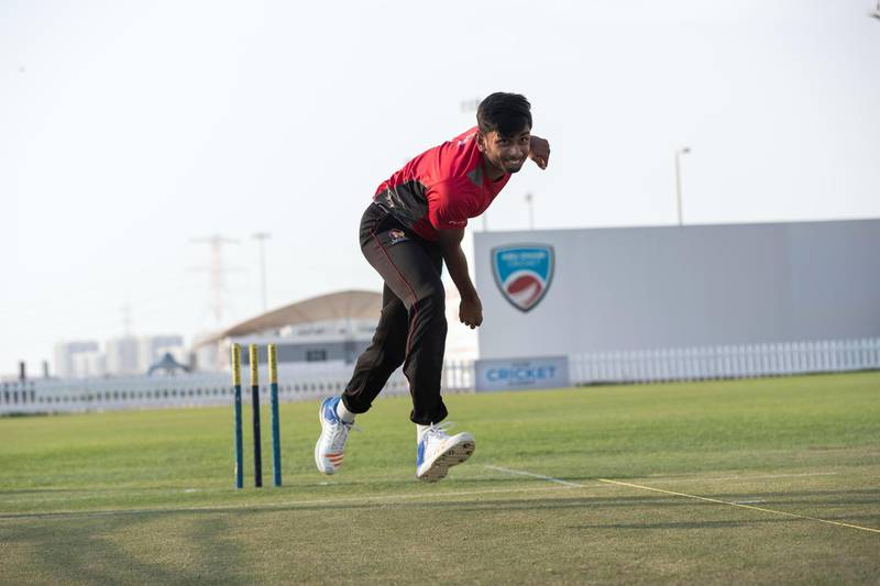ABU DHABI, UNITED ARAB EMIRATES. 05 AUGUST 2018. Cricketer Yodhin Punja is a fast bowler and has got a recall to the UAE senior national team pool. (Photo: Antonie Robertson/The National) Journalist: Amith Pasella. Section: Business.