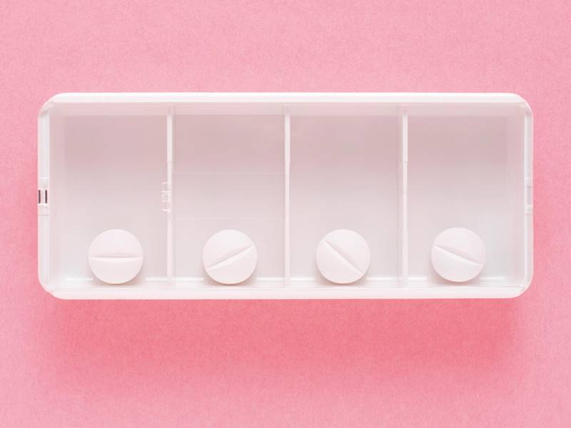 Tablet dosage box. Getty Images