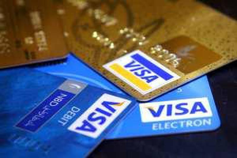 DUBAI, UNITED ARAB EMIRATES – July 15: VISA is a multinational corporation based in San Francisco, California, USA.  (Pawan Singh / The National) *** Local Caption ***  PS02- CREDIT CARD.jpg