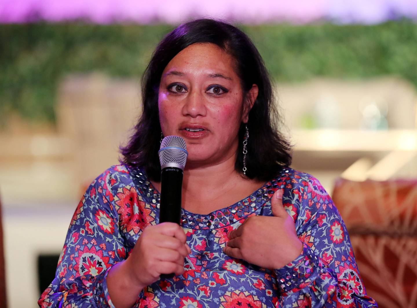 Dubai, United Arab Emirates - October 26th, 2017: Dimple Sahni (senior director impact investing at Anthos fund and asset management) talk about Financial literacy at the 19TH Global WIL Economic Forum. Thursday, October 26th, 2017 at The Ritz-Carlton, Dubai International Financial Centre, Dubai. Chris Whiteoak / The National