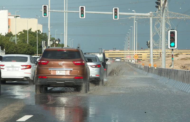Dubai, United Arab Emirates - Water flooding at Discover Gardens.  Ruel Pableo for The National