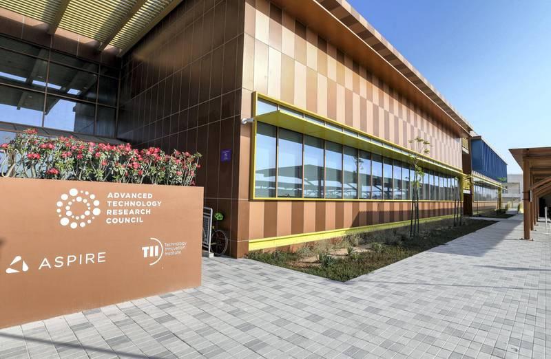 Abu Dhabi, United Arab Emirates - The exterior building of Technology Innovation Institute at Madsar City. Khushnum Bhandari for The National