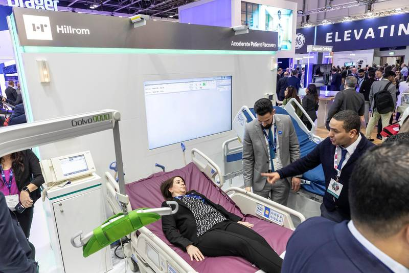 DUBAI, UNITED ARAB EMIRATES. 28 JANUARY 2020. General image from the show floor of Arab Health held this week at Dubai World Trade Center. (Photo: Antonie Robertson/The National) Journalist: Nick Webster. Section: National.