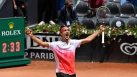 Lorenzo Sonego continues dream run at Italian Open to set up semi-final clash with Novak Djokovic