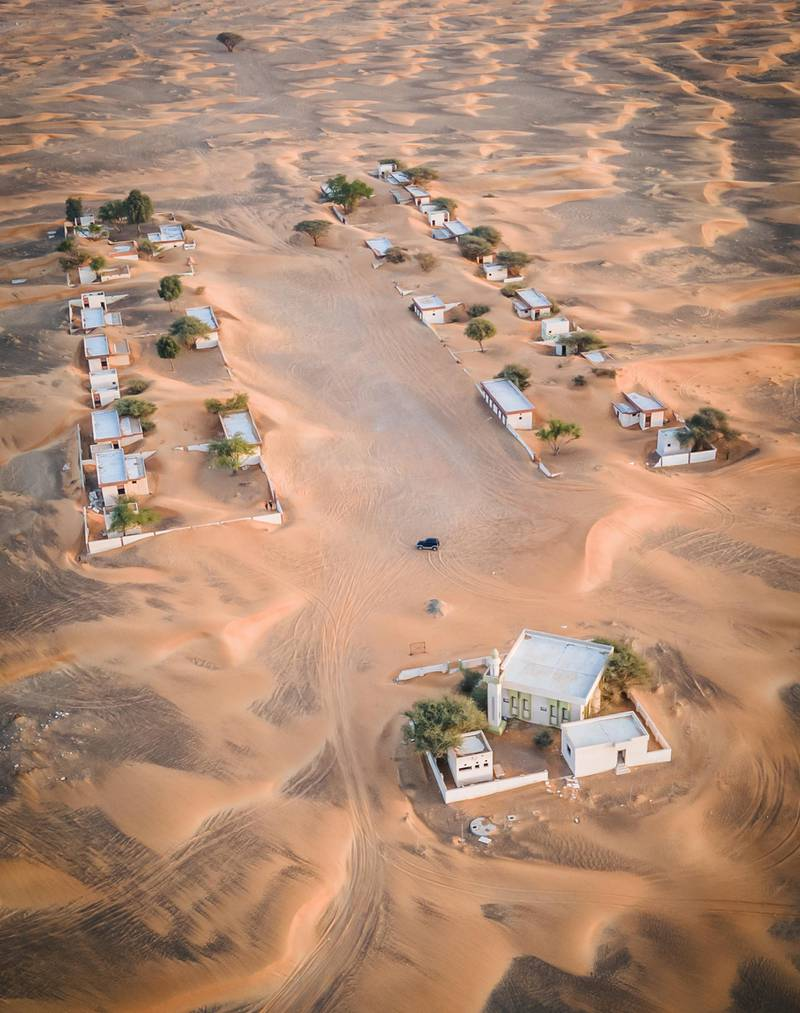 The deserted ghost village in Ras Al Khaimah.