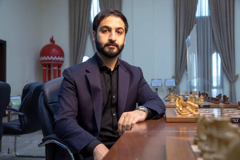Emirati Speed Chess champion Salem Saleh on June 24th, 2021. Antonie Robertson / The National.Reporter: Georgia Tolley for National
