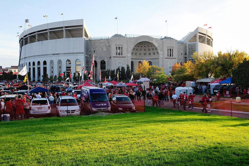 COLUMBUS, OH - OCTOBER 6: A general view of Ohio Stadium before the game between the Nebraska Cornhuskers and the Ohio State Buckeyes on October 6, 2012 in Columbus, Ohio.   Jamie Sabau/Getty Images/AFP