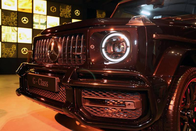 Dubai, United Arab Emirates - July 3rd, 2018: Launch of new Mercedes-Benz G-Class for Motoring. Tuesday, July 3rd, 2018 in Al Quoz, Dubai. Chris Whiteoak / The National