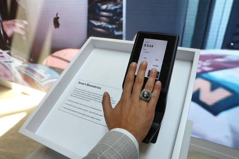 An employee demonstrates a concept biometric payment system on the Wirecard AG exhibition stand at the Noah Technology Conference in Berlin, Germany, on Thursday, June 13, 2019. The annual tech conference runs June 13 -14 and brings together future-shaping executives and investors. Photographer: Krisztian Bocsi/Bloomberg