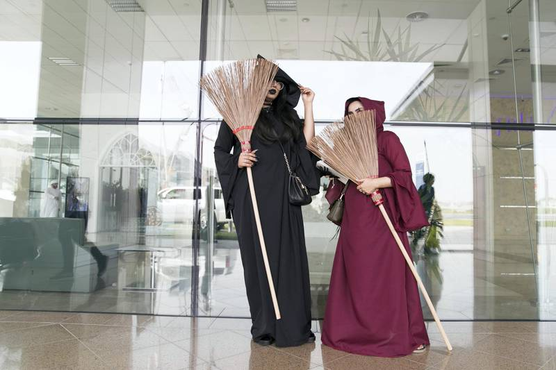 DUBAI, UNITED ARAB EMIRATES - APRIL 7, 2018.   Cosplayers at the Middle East Film and Comic Con.  (Photo by Reem Mohammed/The National)  Reporter: Section: NA