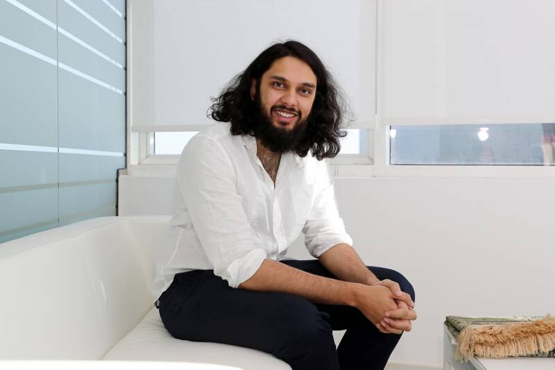 DUBAI , UNITED ARAB EMIRATES ,  November 20 , 2018 :- Junaid Wahedna, creator of a Sharia-compliant investment Wahed Invest at his office in HDS Business Center in Jumeirah Lake Towers in Dubai. ( Pawan Singh / The National )  For Business. Story by Suzanne Locke