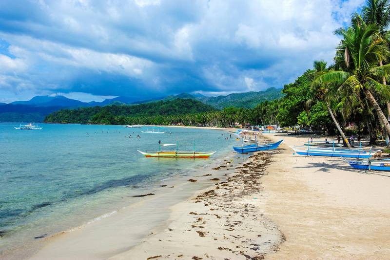 Sandy beach in front of the entrance to the New wonder of the world, the Puerto Princesa underground river, UNESCO World Heritage Site, Palawan, Philippines, Southeast Asia. Getty Images