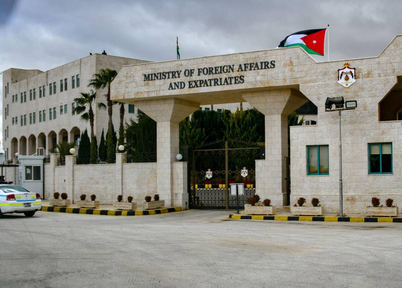 2BMY8HJ Secretary Pompeo Arrives at the Ministry of Foreign Affairs in Jordan U.S. Secretary of State Michael R. Pompeo arrives at the Ministry of Foreign Affairs for a meeting with Foreign Minister Ayman Safadi, in Amman, Jordan, on January 8, 2019. Alamy
