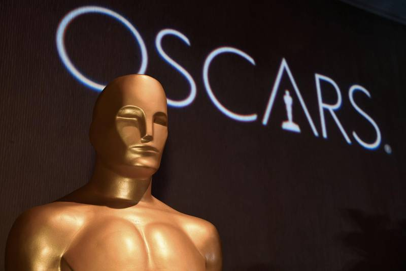 """(FILES) In this file photo taken on February 4, 2019, an Oscar statue at the 91st Oscars Nominees Luncheon  in Beverly Hills. The upcoming Academy Awards, the biggest night in Hollywood, will take place this year without a host for the first time in three decades, organizers said on February 5, 2019. """"We can confirm that there will be no host,"""" a spokesperson from the Academy of Motion Pictures Arts and Sciences told AFP without elaborating. / AFP / Robyn BECK"""