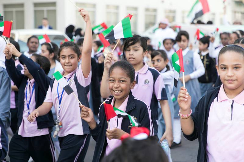 FUJAIRAH, UNITED ARAB EMIRATES - NOV 28:Al Fujairah began it's UAE National Day celebrations with a national parade.(Photo by Reem Mohammed/The National)Reporter:  Ruba HazaSection: NA