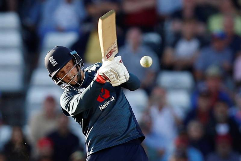 Cricket - England v India - Third One Day International - Emerald Headingley, Headingley, Britain - July 17, 2018   England's Joe Root hits a four for his century and to win the match   Action Images via Reuters/Ed Sykes