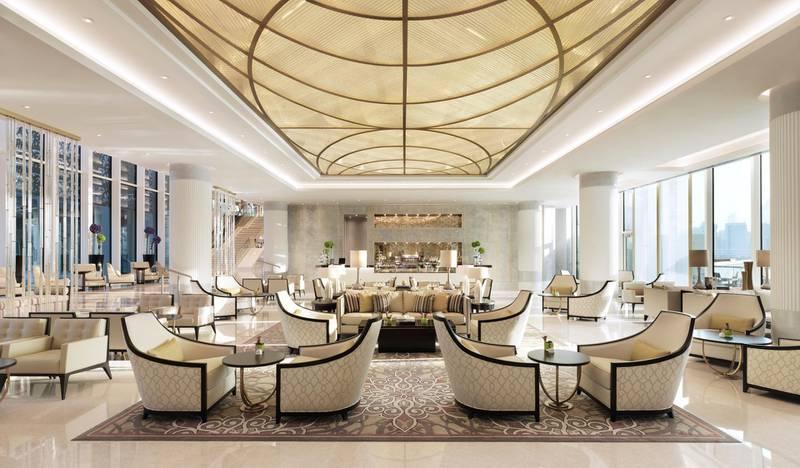 A handout photo of Al Meylas Lobby Lounge at Four Seasons Hotel Abu Dhabi at Al Maryah Island (Courtesy: Four Seasons Hotel Abu Dhabi at Al Maryah Island) *** Local Caption ***  wk18no-tr-insider-almaryah02.jpg