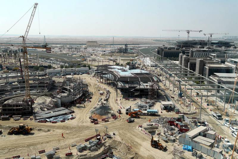 Dubai, United Arab Emirates - October 21, 2019: Exclusive site tour of Expo 2020. The Global Media briefing will introduce the world's media to The Worl's Greatest Show. Monday the 21st of October 2019. JVC, Dubai. Chris Whiteoak / The National