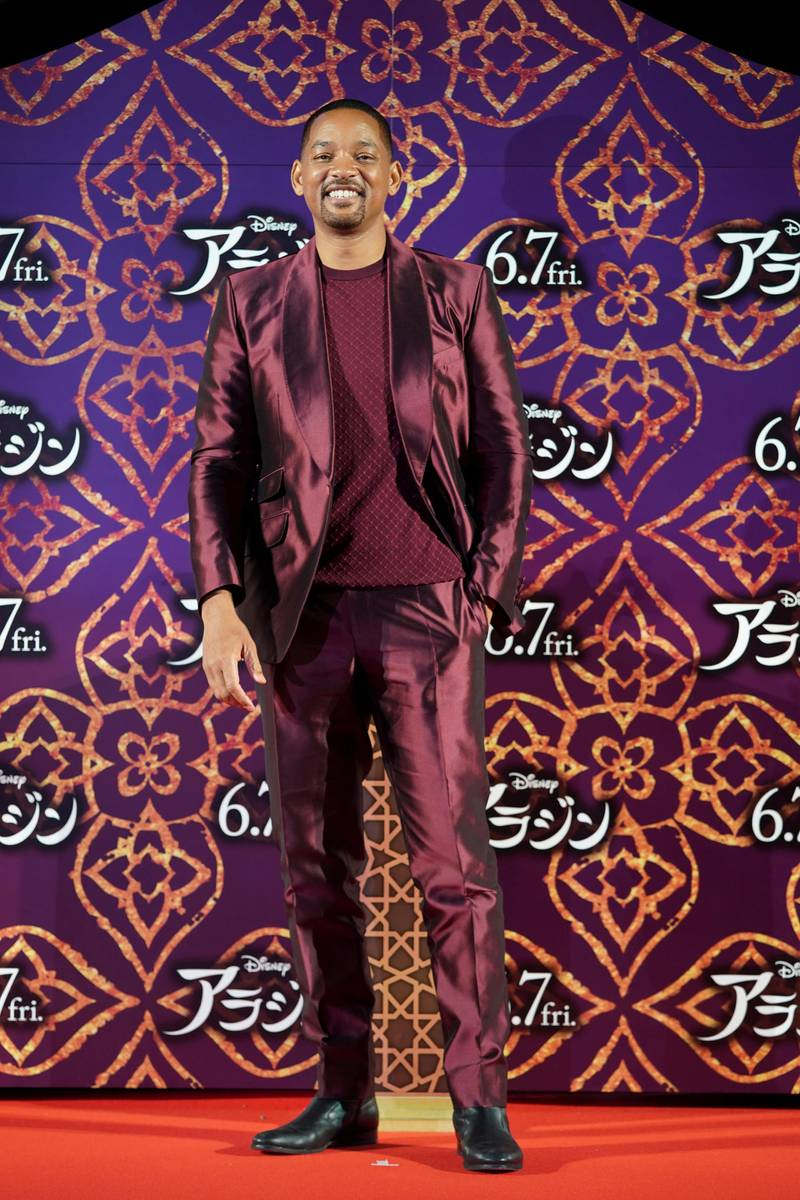 TOKYO, JAPAN - MAY 16: Will Smith attends the parade for 'Aladdin' Japan premiere on May 16, 2019 in Tokyo, Japan. (Photo by Christopher Jue/Getty Images for Disney)