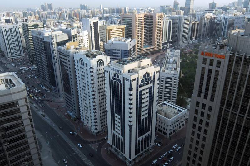 ABU DHABI, UNITED ARAB EMIRATES - - -  10 April 2017 --- View of Abu Dhabi skyline. Photo taken on Monday, April 10, 2017.   (  DELORES JOHNSON / The National  )   ID:  Reporter:  None Section: AL *** Local Caption ***  DJ-100417-BZ-AD Skyline-001.jpg