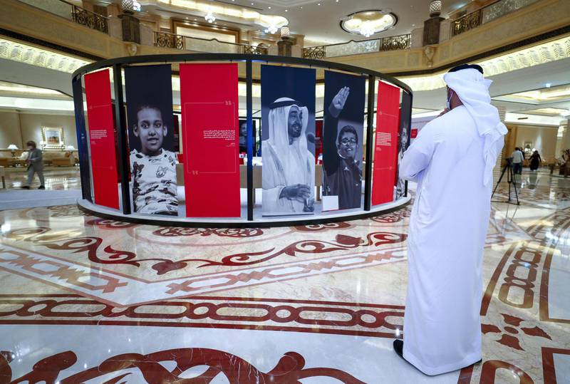 Abu Dhabi, United Arab Emirates, April 5, 2021.  The opening of A Journey of Determination, a new exhibition at Emirates Palace hotel celebrating the legacy and impact of Special Olympics World Games Abu Dhabi 2019.Victor Besa/The NationalSection:  NAReporter:  Shireena Al Nowais