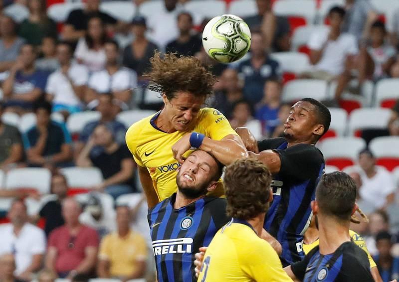 Soccer Football - International Champions Cup - Chelsea v Inter Milan - Allianz Riviera, Nice, France - July 28, 2018   Chelsea's David Luiz in action   REUTERS/Eric Gaillard