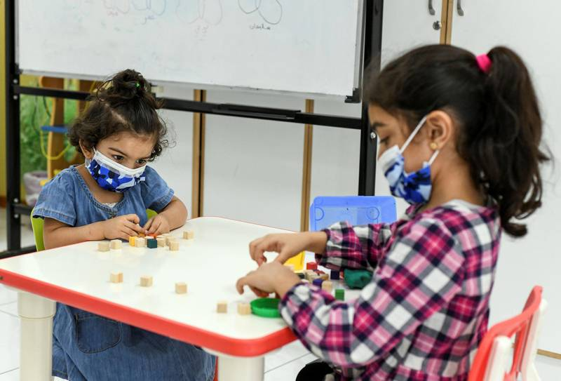 Lotus Training Centre-AD Young students at the Lotus Holistic Retal Training Centre in the capital on June 20, 2021. Khushnum Bhandari/ The National Reporter: Haneen Dajani News