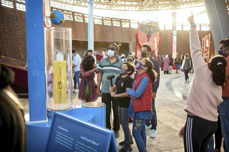 DUBAI, JANUARY 29 2021: Visitors at Terra - The Sustainability Pavilion at Expo 2020 Dubai (Photo by Suneesh Sudhakaran/Expo 2020 Dubai)