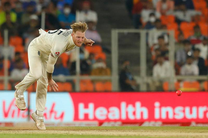 Ben Stokes of England bowling during day one of the third PayTM test match between India and England held at the Narendra Modi Stadium, Ahmedabad, Gujarat, India on the 24th February 2021  Photo by Saikat Das / Sportzpics for BCCI