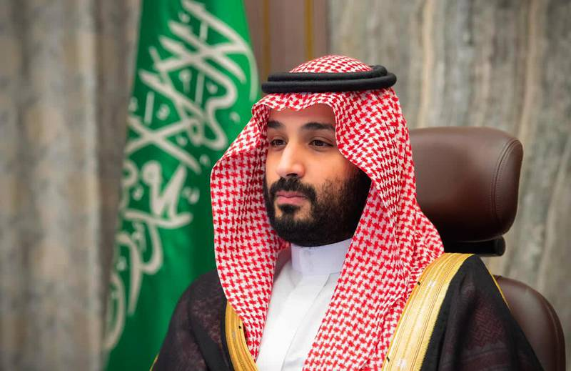 """A handout picture provided by the Saudi Royal Palace on November 12, 2020, shows Saudi Crown Prince Mohammed bin Salman attending a video meeting with the Shura council in the capital Riyadh.  - RESTRICTED TO EDITORIAL USE - MANDATORY CREDIT """"AFP PHOTO / SAUDI ROYAL PALACE / BANDAR AL-JALOUD"""" - NO MARKETING - NO ADVERTISING CAMPAIGNS - DISTRIBUTED AS A SERVICE TO CLIENTS  / AFP / Saudi Royal Palace / Bandar AL-JALOUD / RESTRICTED TO EDITORIAL USE - MANDATORY CREDIT """"AFP PHOTO / SAUDI ROYAL PALACE / BANDAR AL-JALOUD"""" - NO MARKETING - NO ADVERTISING CAMPAIGNS - DISTRIBUTED AS A SERVICE TO CLIENTS"""