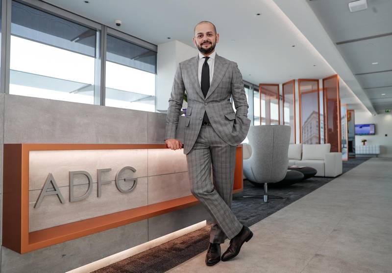 Abu Dhabi, U.A.E., February 14, 2018. Interview with COO of Abu Dhabi Financial Group,  Mustafa Kheriba.Victor Besa / The NationalBusinessReporter:  Dania Saadi