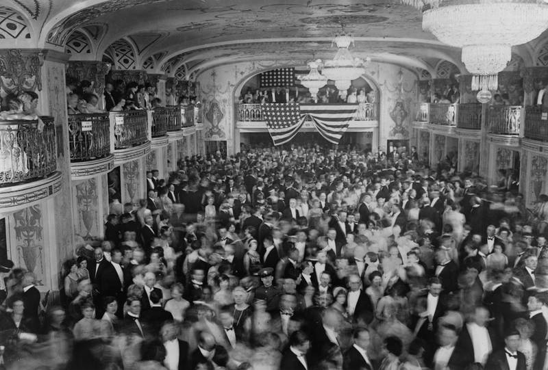The crowd dances at President Herbert Hoover's inaugural ball at the Mayflower Hotel in Washington, D.C., U.S. in March 1929. Before the year was over, the Roaring Twenties would come to an end and the Great Depression would begin.    Library of Congress/Handout via REUTERS ATTENTION EDITORS - THIS IMAGE WAS PROVIDED BY A THIRD PARTY. EDITORIAL USE ONLY