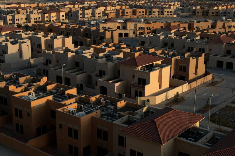 Abu Dhabi, United Arab Emirates, May 24, 2014:     General view of the Watani Residential Development project seen from the Al Rayyana Compound in the Khalifa City area of Abu Dhabi on May 24, 2014. Christopher Pike / The National  Reporter:  N/A Section: News