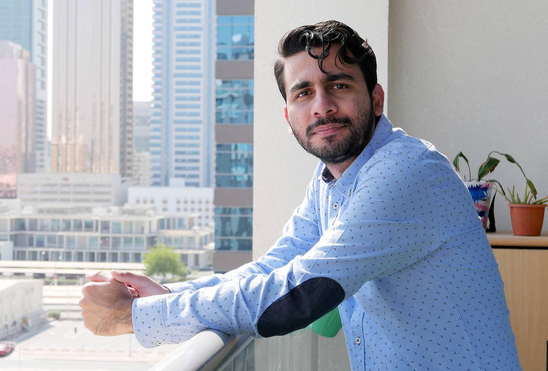 Tahir Idris Merchant at his home in Dubai on May 19,2021. Pawan Singh / The National. Story by Deepthi Nair