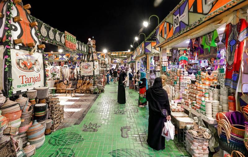Abu Dhabi, United Arab Emirates, January 5, 2020.  Photo essay of Global Village.--   The Africa Pavillion.Victor Besa / The NationalSection:  WKReporter:  Katy Gillett