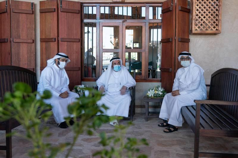 Sheikh Sultan bin Muhammad Al Qasimi inaugurated the heritage area in Khorfakkan on Sunday morning. WAM