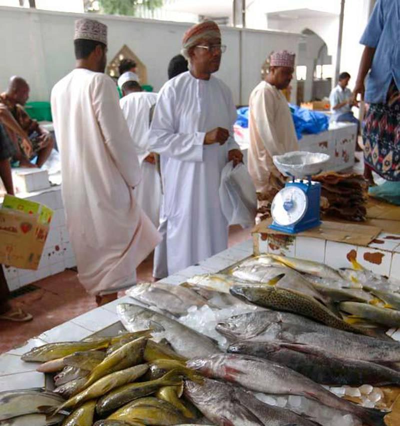 SALALAH. 16th July 2009. Fish, meat and vegetable souk in  Salalah, Oman.  Stephen Lock  /  The National . FOR TRAVEL. *** Local Caption ***  SL-salalah-056.jpg